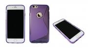 iP6 Plus/6S Plus vijolič.-pros. SLine z luknjo-Gum. zašč. ovitek