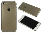 Apple iPhone 7/8 - Gumiran ovitek (TPUA) - sivo-prosojen