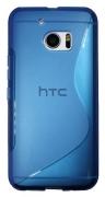 HTC 10/10 Lifestyle modro-prosojen - Gumiran ovitek