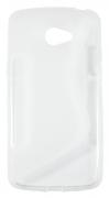 Lenovo Vibe K5 - Gumirani ovitek (TPU) - belo-prosojen SLine