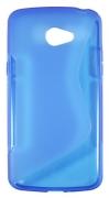 Lenovo Vibe K5 - Gumirani ovitek (TPU) - modro-prosojen SLine