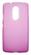 Lenovo Vibe X3 roza-prosojen mat - Gumiran ovitek
