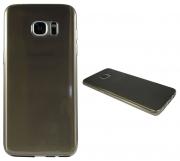 Samsung Galaxy S7 Edge sivo-prosojen TANEK gum. zašč. ovitek
